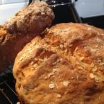 Freshly baked wheaten bread